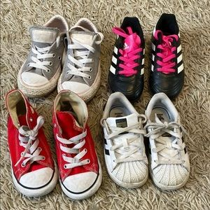 LOT OF GIRLS SNEAKERS Sizes 8-11. Converse/adidas